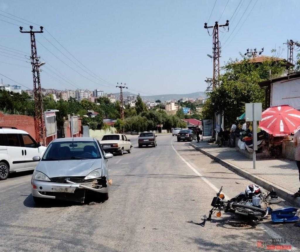 Adana'nın Kozan ilçesinde meydana gelen trafik kazasında 1 kişi yaralandı