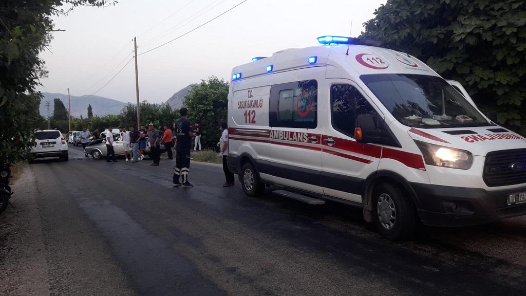 kozanda trafik kazası